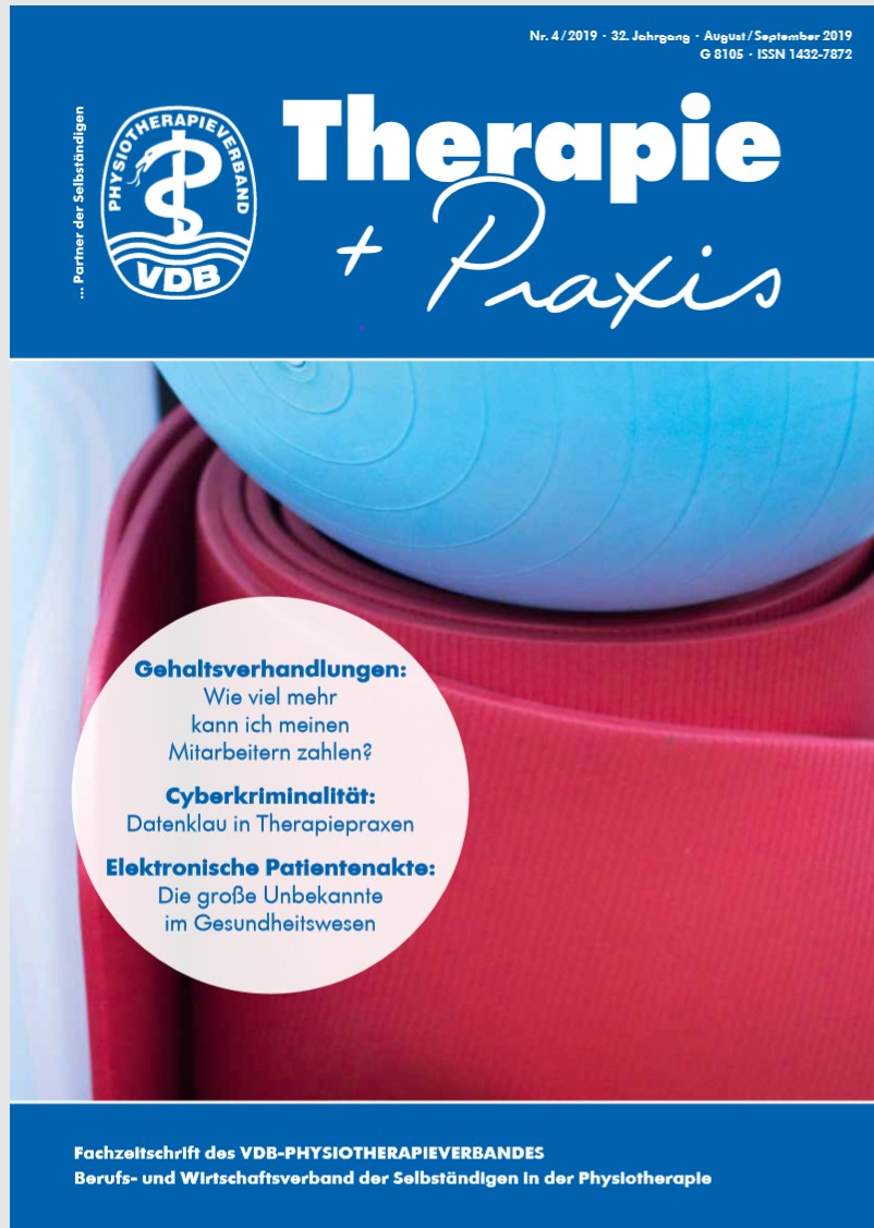 Titelbild Therapie-Praxis-VDB Ausgabe August-September